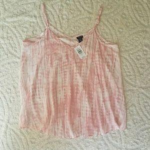 Torrid pink tie dye Sophie cami tank NWT sz 0